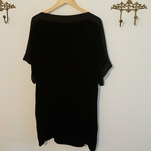 Eileen Fisher bateau neck velvet dress size small